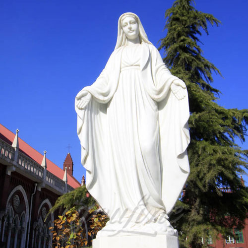 Brand New Virgin Mary Statue with Hands Open for Sale