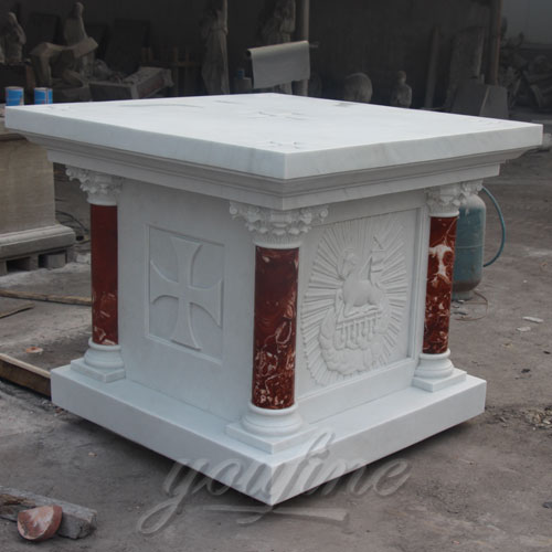 Church Decorative Small Religious Marble Altar Table for Sale