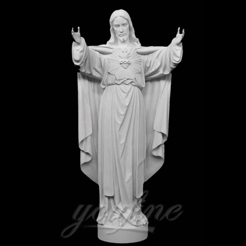Famous Outdoor Jesus Stone Statue with Open Hand for Decor