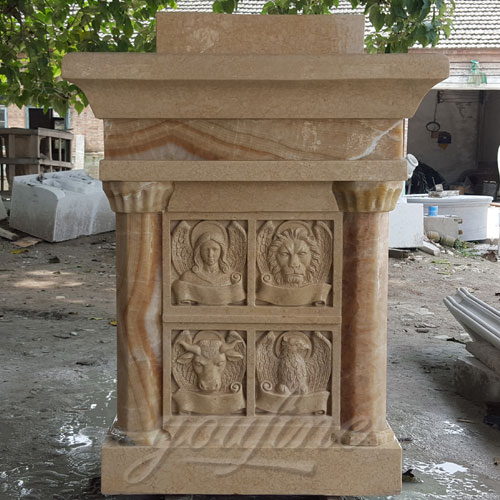 Indoor Large Marble pulpit Catholic for Church Decoration