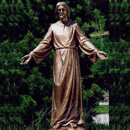 Large New Products Christian Jesus Bronze Statues Opening the Arm