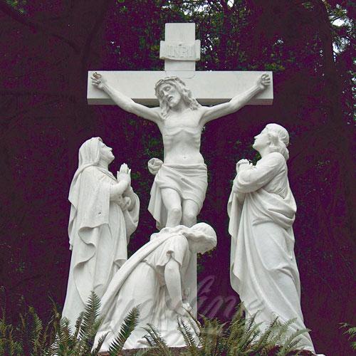 Life Size White Religious Marble Christian Jesus Statue