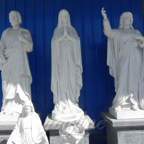 Natural Stone White Marble Religious Statue for Sale