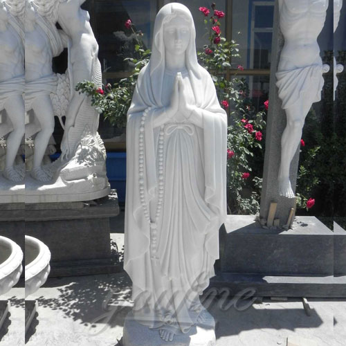 Outdoor White Blessed Marble Virgin Mary Statue for Hot Selling