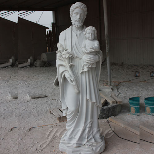 Park Decoration Life Size Jesus Carved Figures with Baby Sculpture