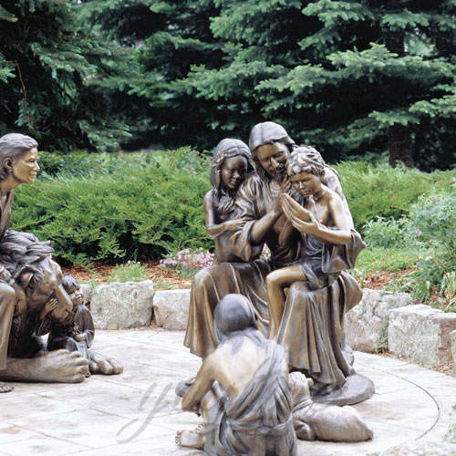 Popular Design Outdoor Jesus Statue with Child for Sale