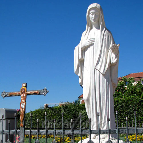 White Stone Virgin Mary Garden Statues for Sale